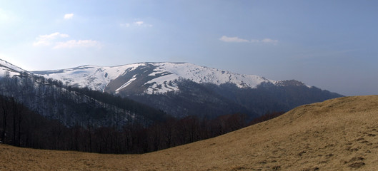 early spring over the mountains