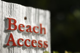 Beach access sign on Bald Head Island, North Carolina. poster