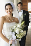 Fototapety Portrait of bride and groom.