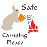 safe camping poster