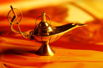 golden magic lamp