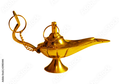 golden magic lamp