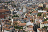 Aerial view of buildings in Lisbon, Portugal. poster