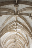 Rib-vaulted ceiling in Lisbon, Portugal. poster