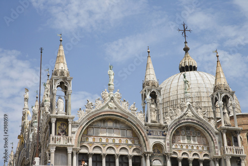 Ornate building in Venice, Italy.