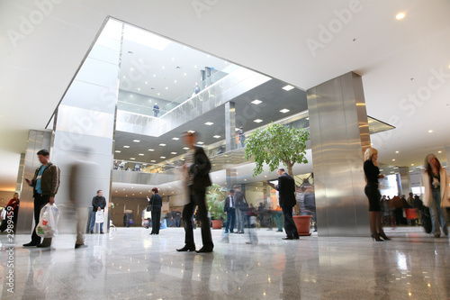 Leinwandbild Motiv business hall