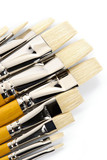 set of clean paintbrushes poster