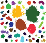 paint brush spots poster