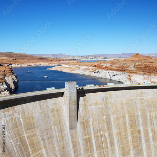 Aluminium Dam Glen Canyon Dam, Arizona.