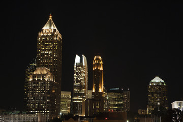 Nightscape of Atlanta, Georgia skyline.