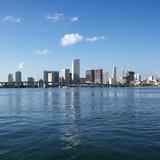 Waterfront skyline of Miami, Florida, USA. poster
