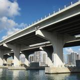 Bridge over Biscayne Bay in Miami, Florida, USA. poster
