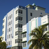 Art deco district of Miami, Florida, USA. poster