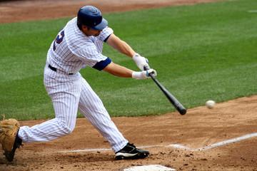 baseball batter making contact