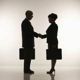 businesspeople shaking hands. poster