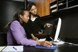 business women working in office. poster