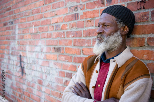 homeless black man