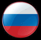 russia flag button poster