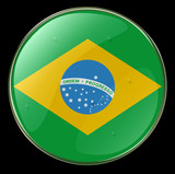 brazil flag button poster