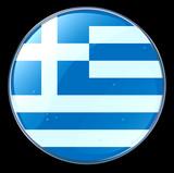 greece flag button poster