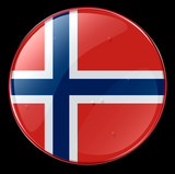 norway flag button poster