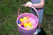 holding a easter basket