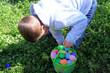 easter egg hunt / boy
