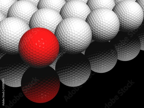 red ball in front