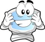 computer mascot poster