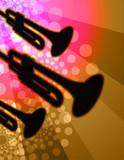 trumpet trio - night club background poster