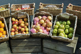 market stall selling fruit poster
