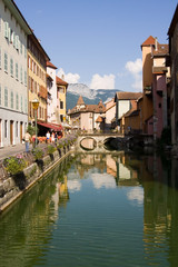 ancient waterside city of annecy, france