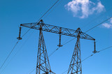 high-voltage power transmission tower poster
