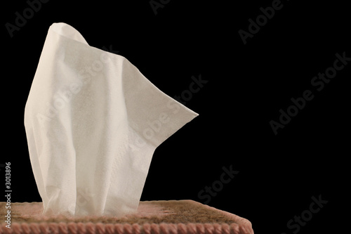tissue - black background