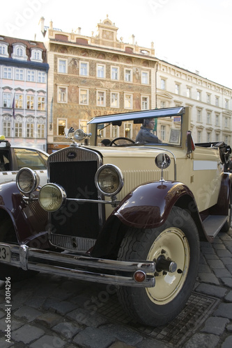 old car in prague