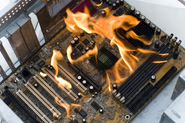 burninging computer