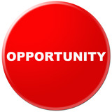 red icon with word of opportunity poster