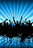 Fototapety party crowd design