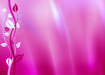 abstract purple background with leaf