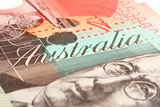 detail of australian twenty dollar note poster
