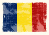 flag of romania poster