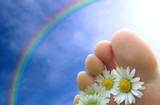 toes and rainbow poster