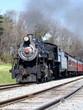 steam engine 90 under full steam