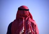 arab man with head scarf