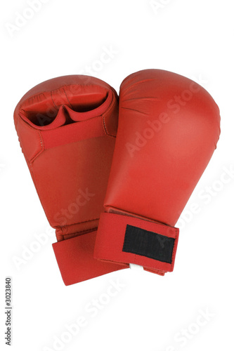 red karate gloves