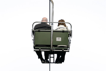 double-chair-lift with a pair