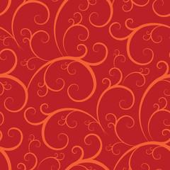 seamless swirly wallpaper pattern