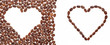 two coffee hearts