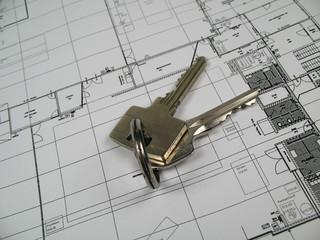 keys and floor plan