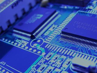 circuit intégré issu d'un ordinateur